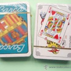Barajas de cartas: BARAJA DE CARTAS DEL F.C.BARCELONA NUEVA . Lote 27446190