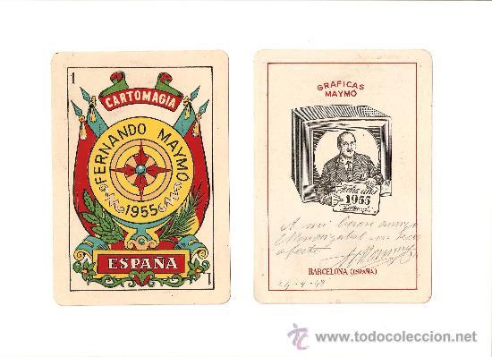 BARAJA ANTIGUA PARA MAGIA (Juguetes y Juegos - Cartas y Naipes - Baraja Española)