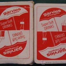 Barajas de cartas: BARAJA DE CARTAS DE PÓKER BRIDGE. GARVIES OF MILNGAVIE. ANTIGUO REFRESCO. BEBIDAS. . Lote 24942323