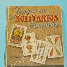 Barajas de cartas: JUEGOS SOLITARIOS ESPAÑOLES. 1952. Lote 26831320