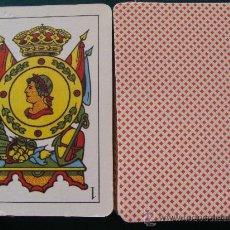 Barajas de cartas: BARAJA DE CARTAS ESPAÑOLA. 50 NAIPES. MARCA DESCONOCIDA. ESTAMPADO ROJO. . Lote 52937902