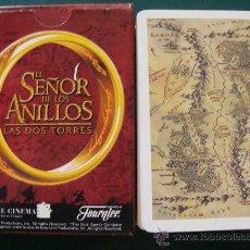 Barajas de cartas: BARAJA DE CARTAS INFANTIL PÓKER. EL SEÑOR DE LOS ANILLOS. LAS DOS TORRES. 2002. FOURNIER.. Lote 25175265