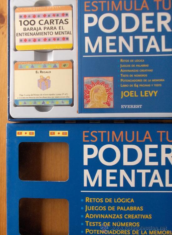 JUEGO ESTIMULA TU PODER MENTAL JOEL LEVY POR EVEREST.NUEVO PRECINTADO.MAGNIFICO (Juguetes y Juegos - Cartas y Naipes - Barajas Tarot)