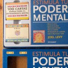 Barajas de cartas: JUEGO ESTIMULA TU PODER MENTAL JOEL LEVY POR EVEREST.NUEVO PRECINTADO.MAGNIFICO. Lote 27008082