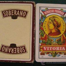 Barajas de cartas: BARAJA DE CARTAS ESPAÑOLA. FOURNIER. BEBIDAS. BRANDY SOBERANO. 40 NAIPES. . Lote 25779050