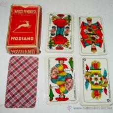 Barajas de cartas: ANTIGUA BARAJA DE TAROT - TAROCCO PIEMONTESE - MODIANO - 78 CARTE TAROCCO PIEMONTESE N. 84 - FABRICA. Lote 144077485
