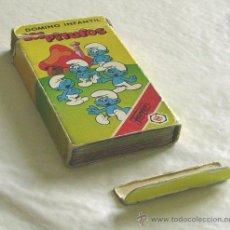 Barajas de cartas: PITUFOS. DOMINO INFANTIL DE HERACLIO FOURNIER. Lote 25830818
