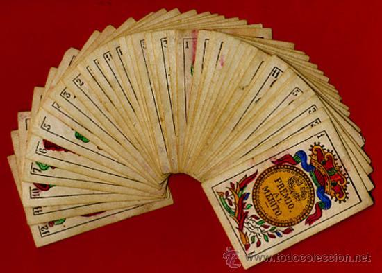 BARAJA OLEA CADIZ , 1880 , ORIGINAL, ANTIGUA, 40 NAIPES , VER FOTOS ADICIONALES. COMPLETA (Juguetes y Juegos - Cartas y Naipes - Baraja Española)