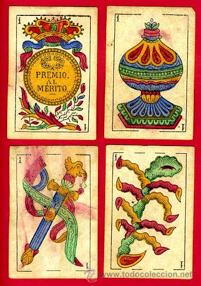 Barajas de cartas: BARAJA OLEA CADIZ , 1880 , ORIGINAL, ANTIGUA, 40 NAIPES , VER FOTOS ADICIONALES. COMPLETA - Foto 3 - 26202031