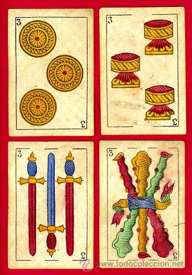 Barajas de cartas: BARAJA OLEA CADIZ , 1880 , ORIGINAL, ANTIGUA, 40 NAIPES , VER FOTOS ADICIONALES. COMPLETA - Foto 5 - 26202031