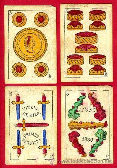 Barajas de cartas: BARAJA OLEA CADIZ , 1880 , ORIGINAL, ANTIGUA, 40 NAIPES , VER FOTOS ADICIONALES. COMPLETA - Foto 7 - 26202031