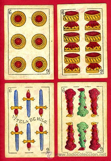 Barajas de cartas: BARAJA OLEA CADIZ , 1880 , ORIGINAL, ANTIGUA, 40 NAIPES , VER FOTOS ADICIONALES. COMPLETA - Foto 8 - 26202031