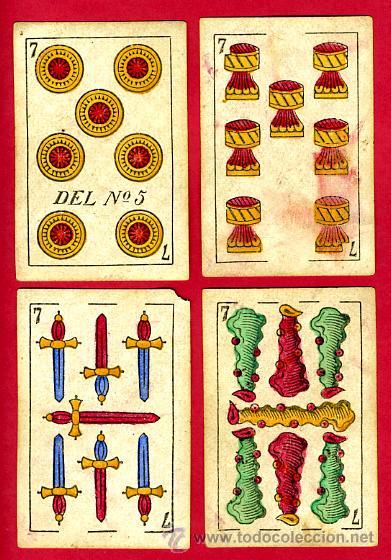 Barajas de cartas: BARAJA OLEA CADIZ , 1880 , ORIGINAL, ANTIGUA, 40 NAIPES , VER FOTOS ADICIONALES. COMPLETA - Foto 9 - 26202031