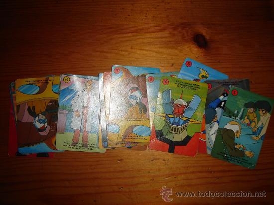BARAJA CARTAS MAZINGER Z SIN CAJA, FOURNIER - COMPLETA (Juguetes y Juegos - Cartas y Naipes - Barajas Infantiles)