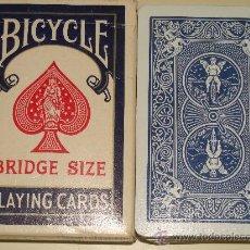 Baralhos de cartas: BARAJA DE CARTAS CLÁSICA DE PÓKER BRIDGE. MARCA BICYCLE. ESTADOS UNIDOS. 54 NAIPES. . Lote 26375205