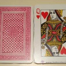 Barajas de cartas: BARAJA DE CARTAS CLÁSICA DE PÓKER BRIDGE. ESTAMPADO ROJO. 54 NAIPES. . Lote 26375244