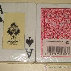 Barajas de cartas: BARAJA DE CARTAS CLÁSICA DE PÓKER BRIDGE. HERACLIO FOURNIER. ESTAMPADO ROJO. PRECINTADA. . Lote 26375310