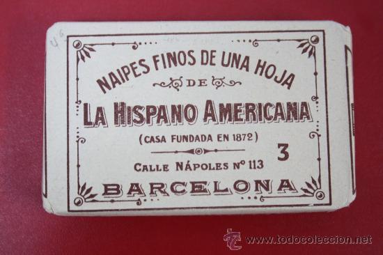 ANTIGUA BARAJA DE NAIPES FINOS UNA HOJA: LA YEGUA - LA HISPANO AMERICANA DE JUAN ROURA (Juguetes y Juegos - Cartas y Naipes - Baraja Española)