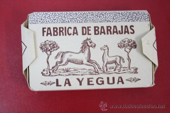 Barajas de cartas: Antigua Baraja de Naipes Finos Una Hoja: La Yegua - La Hispano Americana de Juan Roura - Foto 2 - 26390822