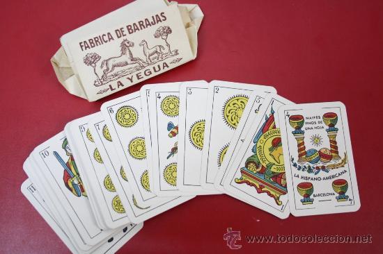 Barajas de cartas: Antigua Baraja de Naipes Finos Una Hoja: La Yegua - La Hispano Americana de Juan Roura - Foto 3 - 26390822