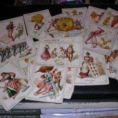 Barajas de cartas: BARAJA DE CARTAS FABRICA DE CHOCOLATES EL BARCO VALENCIA 1888,COMPLETA 48 CARTAS, MODELO GRANDE,. Lote 26526600