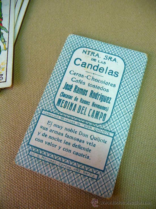 Barajas de cartas: BARAJA CERVANTES, COMPLETA, DORSO, 48 NAIPES, OBSEQUIO, NUESTRA SEÑORA DE LAS CANDELAS, PUBLICITARIA - Foto 3 - 27440057