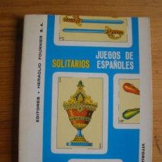 Barajas de cartas: SOLITARIOS. JUEGO DE ESPAÑOLES. EDITA HERACLIO FOURNIER. 1978 104 PAG. Lote 27371307