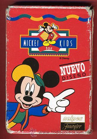 BARAJA INFANTIL , JUEGO MICKEY KIDS FOURNIER , 32 NAIPES COMPLETA, ORIGINAL ,VER FOTOS, B (Juguetes y Juegos - Cartas y Naipes - Barajas Infantiles)