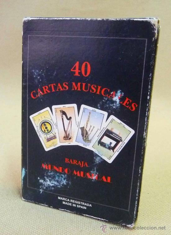 CARTAS, BARAJA, CARTAS MUSICALES, MUNDO MUSICAL, 40 CARTAS, NAIPES EDUCATIVOS (Juguetes y Juegos - Cartas y Naipes - Otras Barajas)