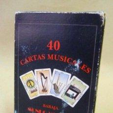 Barajas de cartas: CARTAS, BARAJA, CARTAS MUSICALES, MUNDO MUSICAL, 40 CARTAS, NAIPES EDUCATIVOS. Lote 27705236