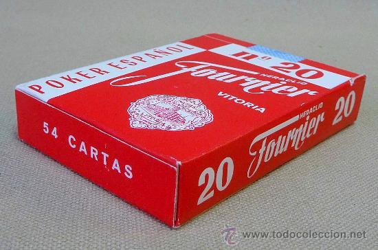 Barajas de cartas: BARAJA, NAIPES, CARTAS, FOURNIER, POKER ESPAÑOL, Nº 20 - Foto 2 - 27705307