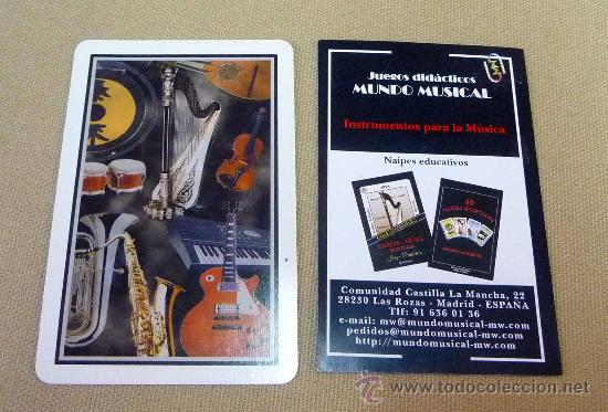 Barajas de cartas: CARTAS, BARAJA, CARTAS MUSICALES, MUNDO MUSICAL, 40 CARTAS, NAIPES EDUCATIVOS - Foto 6 - 27705236