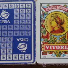 Barajas de cartas: BARAJA DE CARTAS ESPAÑOLA. FOURNIER. CIRSA. MÁQUINAS RECREATIVAS. RECREATIVOS. 50 NAIPES . . Lote 27878491