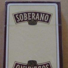 Barajas de cartas: BARAJA DE CARTAS ESPAÑOLA. FOURNIER. SOBERANO BRANDY. BEBIDAS. 40 NAIPES . . Lote 27878517