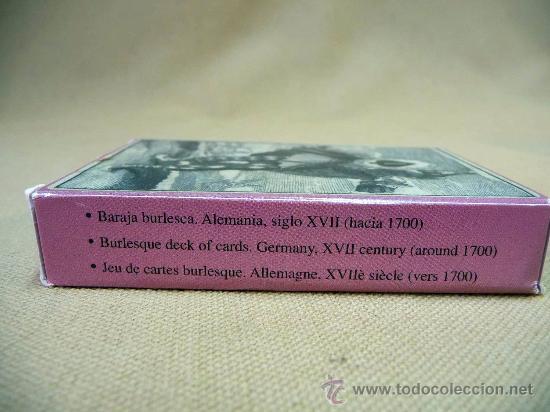 Barajas de cartas: BARAJA BURLESCA, ALEMANIA, SIGLO XVII, FASCIMIL, 52 NAIPES - Foto 2 - 27878293