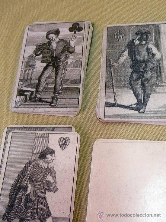 Barajas de cartas: BARAJA BURLESCA, ALEMANIA, SIGLO XVII, FASCIMIL, 52 NAIPES - Foto 4 - 27878293