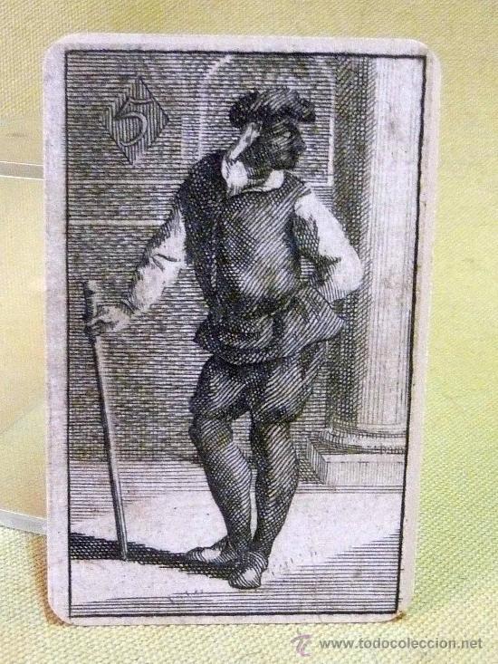 Barajas de cartas: BARAJA BURLESCA, ALEMANIA, SIGLO XVII, FASCIMIL, 52 NAIPES - Foto 5 - 27878293