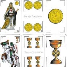 Jeux de cartes: BARAJA TEMPLARIA ESPAÑOLA-AÑO 2011. Lote 208047502