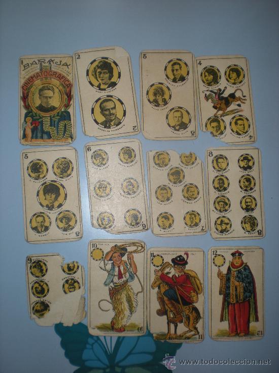 Barajas de cartas: Baraja Cinematográfica. Años 30. Chocolates Jaime Boix. - Foto 2 - 28157764