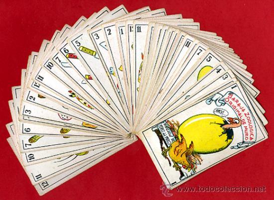 BARAJA ZOOLOGICA DE MURO, ORIGINAL, COMPLETA, 40 NAIPES, SIN PUBLICIDAD EN EL REVERSO. RB (Juguetes y Juegos - Cartas y Naipes - Baraja Española)