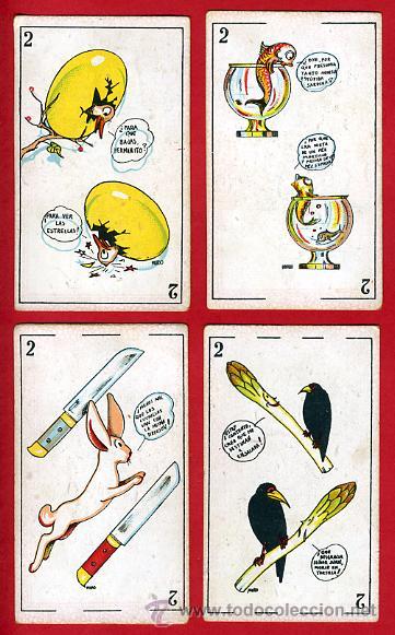 Barajas de cartas: BARAJA ZOOLOGICA DE MURO, ORIGINAL, COMPLETA, 40 NAIPES, SIN PUBLICIDAD EN EL REVERSO. RB - Foto 4 - 28377583