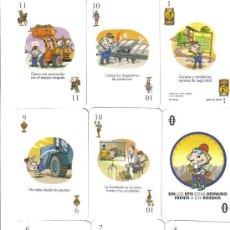 Barajas de cartas: BARAJA ESPAÑOLA SEGURIDAD EN EL TRABAJO ANEFA-AÑO 2004. Lote 40168683