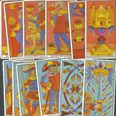 Barajas de cartas: .BARAJA DE TAROT EL TAROT DE MARSELLA COMPLETA Y PERFECTA 78 CARTAS Y ARCANOS. Lote 28705803
