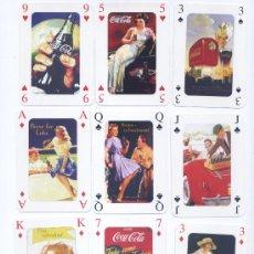 Barajas de cartas: BARAJA POKER CARTELES ANTIGUOS DE COCA COLA. Lote 28752789