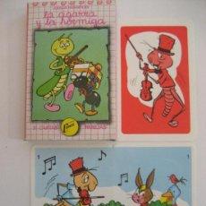 Barajas de cartas: BARAJA CARTAS. JUEGO DE PAREJAS. CUENTO LA CIGARRA Y LA HORMIGA. NAIPES COMAS.. Lote 48126216