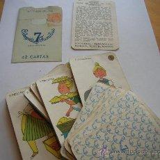 Barajas de cartas: LA MUY DIFICIL PRIMERA VERSION DE LA BARAJA DE 7 FAMILIAS VER FOTOS Y DETALLE. Lote 28905949