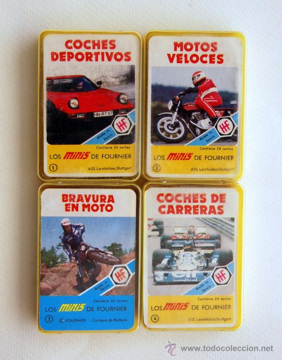 LOTE CON LAS 4 PRIMERAS MINI BARAJAS DE LA SERIE MINIS DE FOURNIER. AÑOS 70 (Juguetes y Juegos - Cartas y Naipes - Barajas Infantiles)