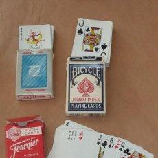 Barajas de cartas: LOTE DE 3 BARAJAS DE CARTAS DE POQUER EN FUNDAS. . Lote 28947877