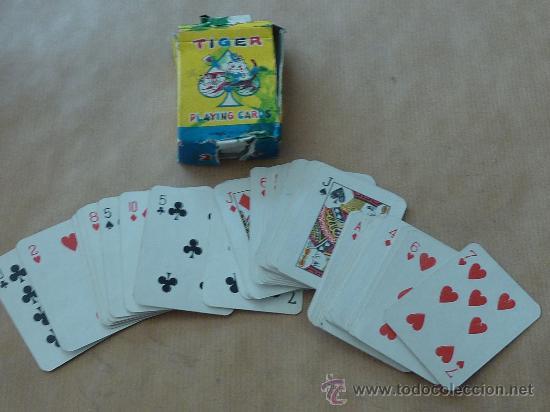 ANTIGUA BARAJA DE CARTAS DE TAMAÑO PEQUEÑO. MARCA TIGER. (Juguetes y Juegos - Cartas y Naipes - Barajas Infantiles)