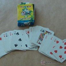 Barajas de cartas: ANTIGUA BARAJA DE CARTAS DE TAMAÑO PEQUEÑO. MARCA TIGER. . Lote 28947975